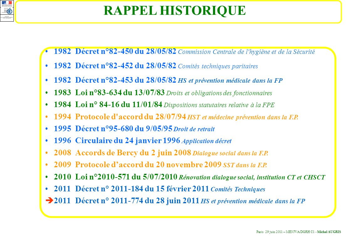 D cret n du 28 juin 2011 minist re de l ducation for Chambre sociale 13 novembre 1996