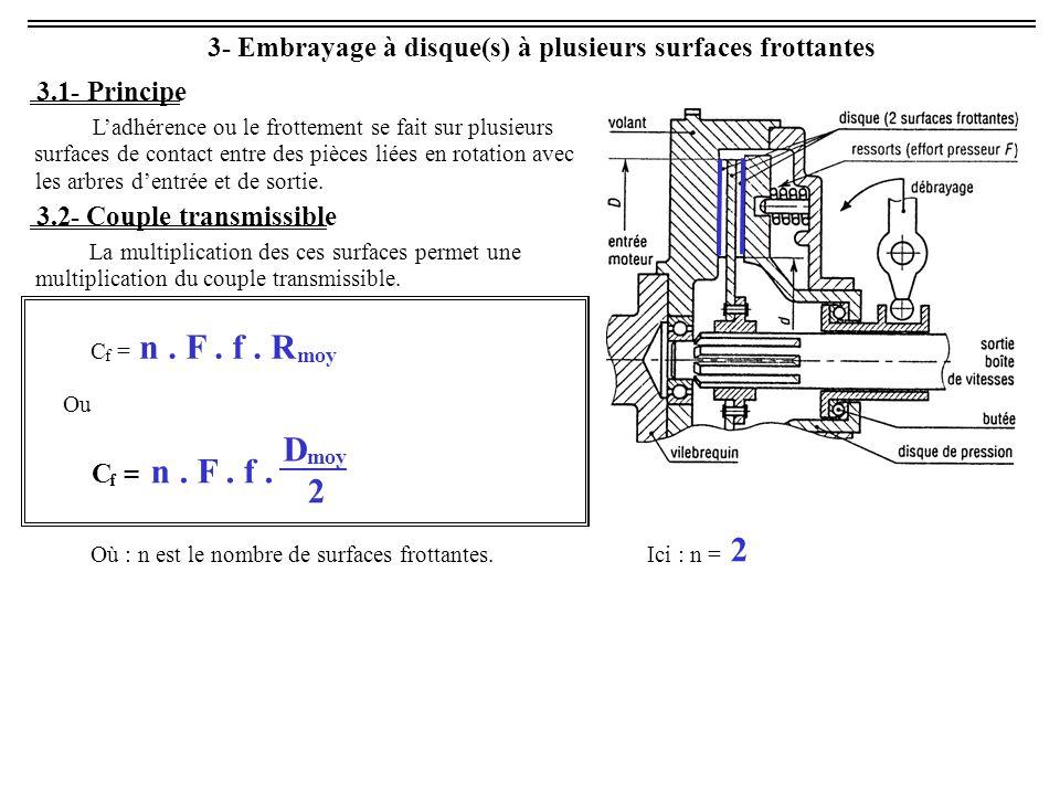 Embrayage à disque(s) à plusieurs surfaces frottantes