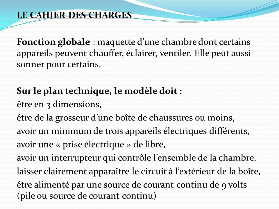 Fabrication d une chambre branch e sct 4061 ppt t l charger - Ventiler une chambre ...