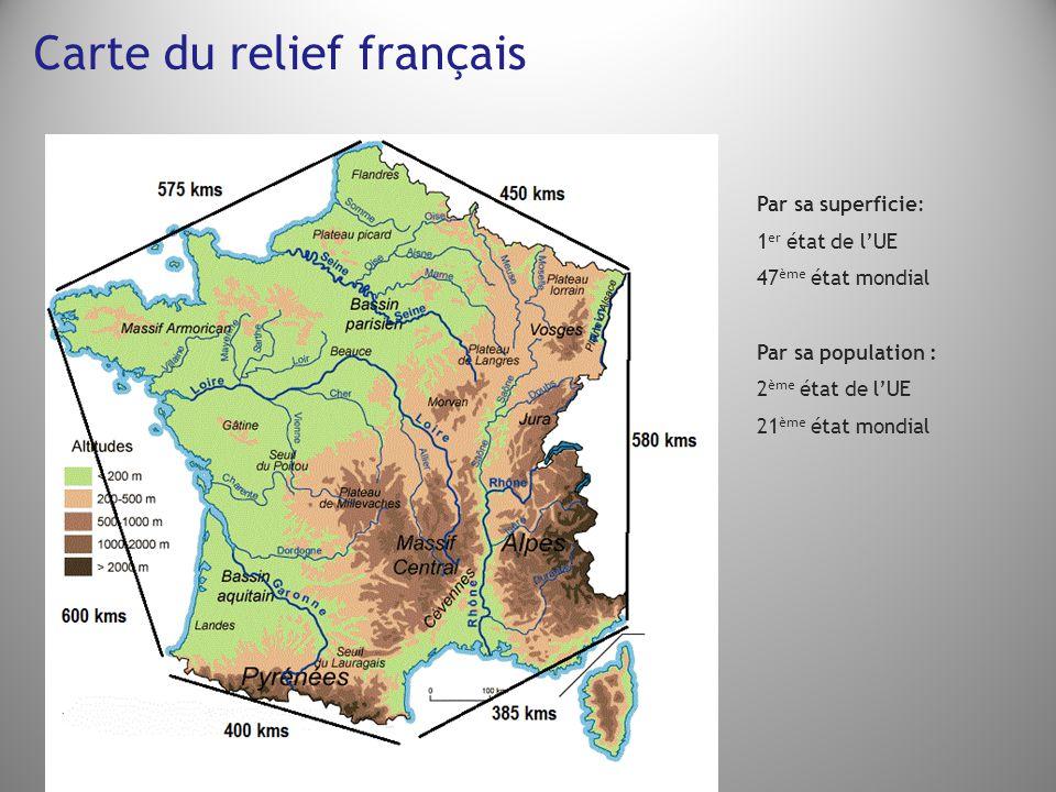 Carte du relief français