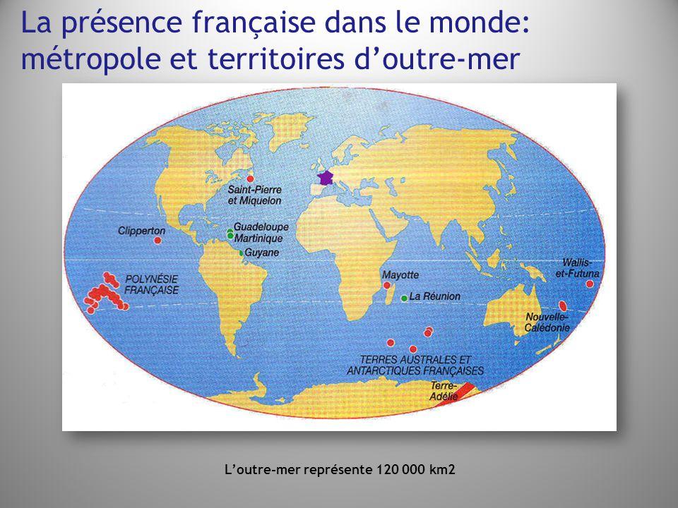 L'outre-mer représente 120 000 km2