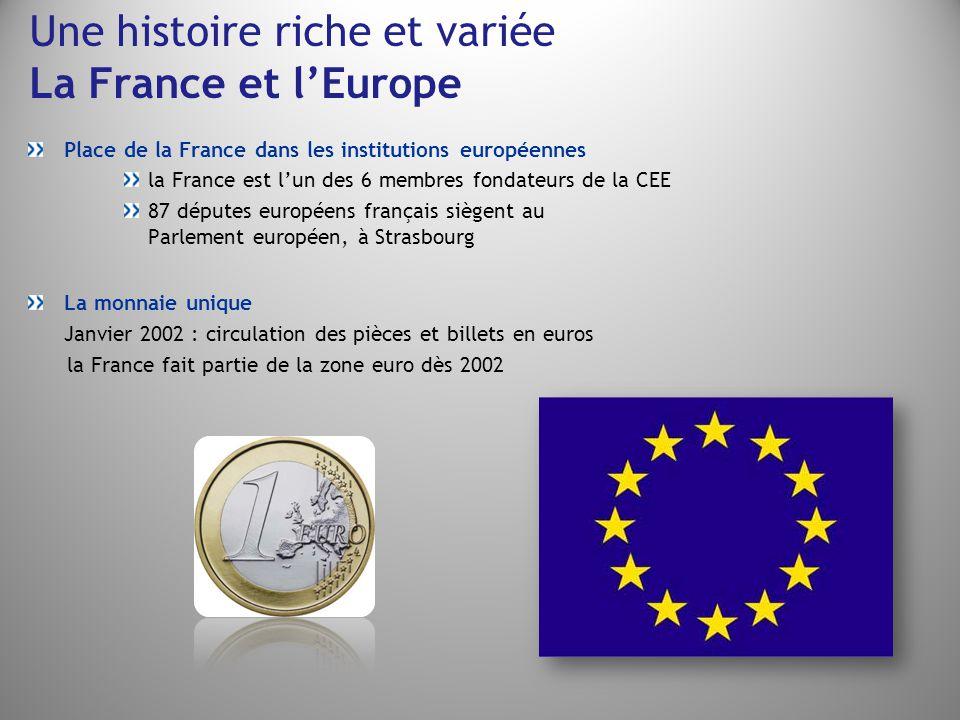 Une histoire riche et variée La France et l'Europe