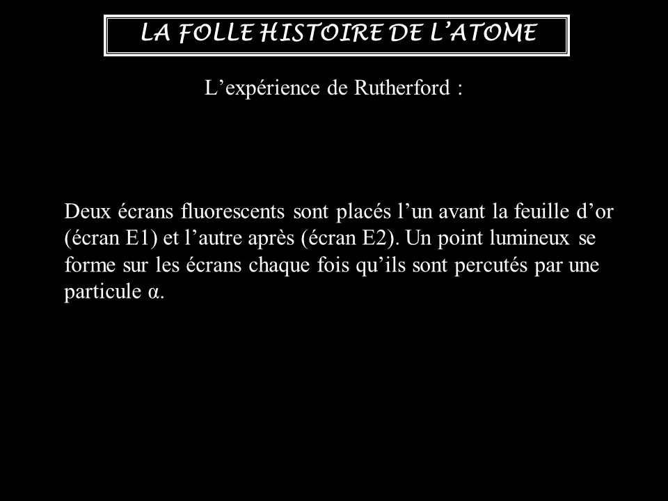 L'expérience de Rutherford :