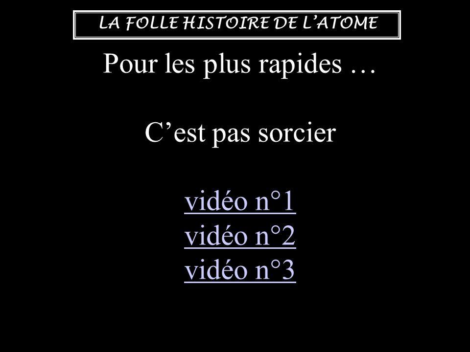 Pour les plus rapides … C'est pas sorcier vidéo n°1 vidéo n°2 vidéo n°3