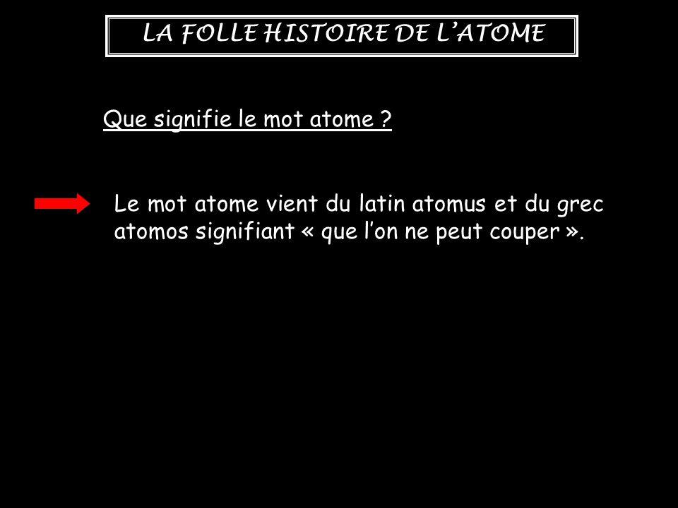 Que signifie le mot atome