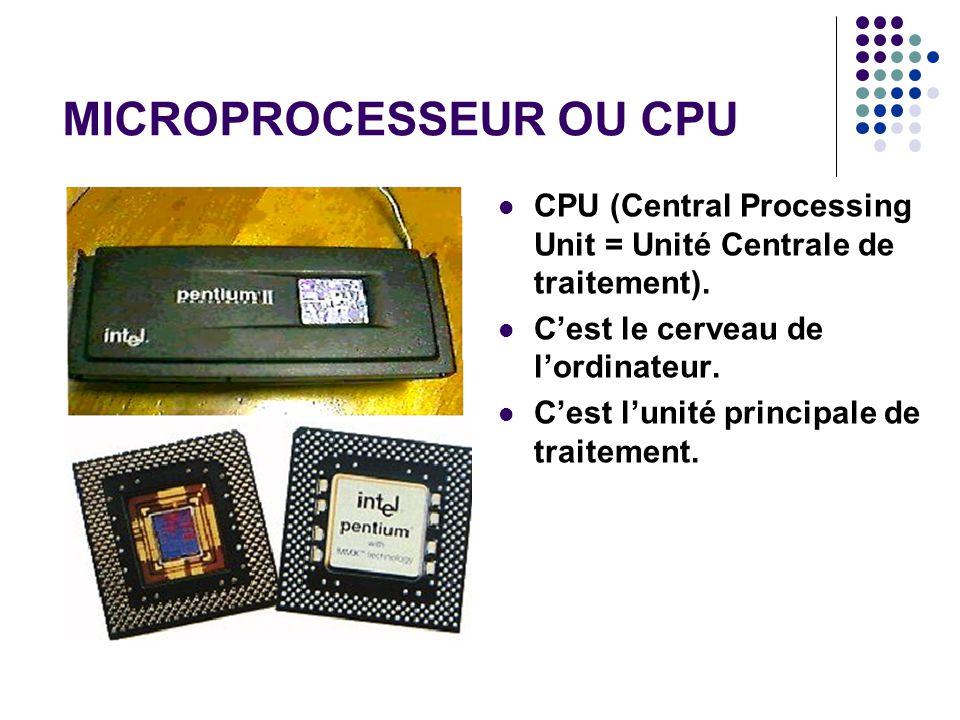 MICROPROCESSEUR OU CPU