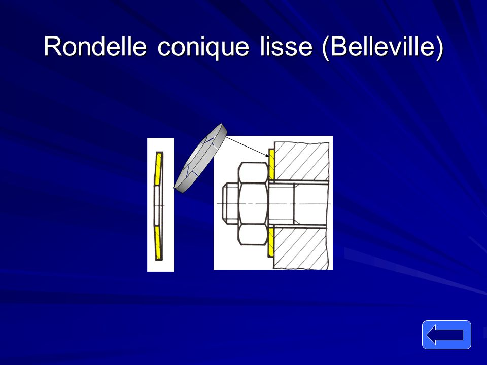 Rondelle conique lisse (Belleville)