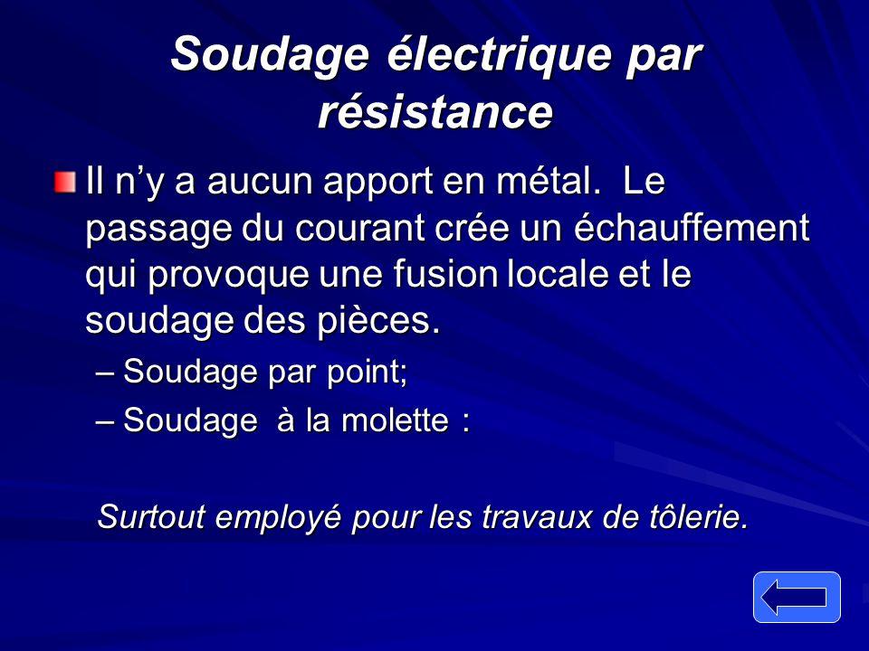 Soudage électrique par résistance