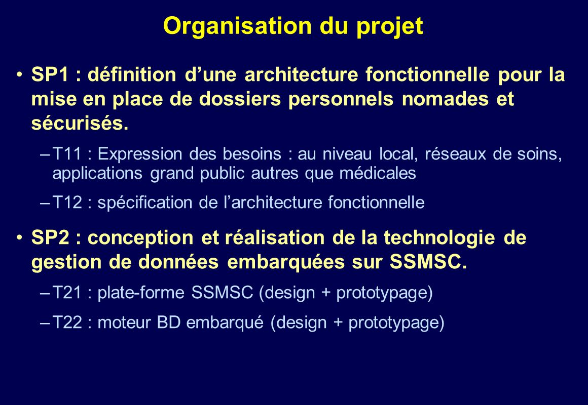 Plugdb dossier personnel nomade et s curis ppt for Projet architectural definition