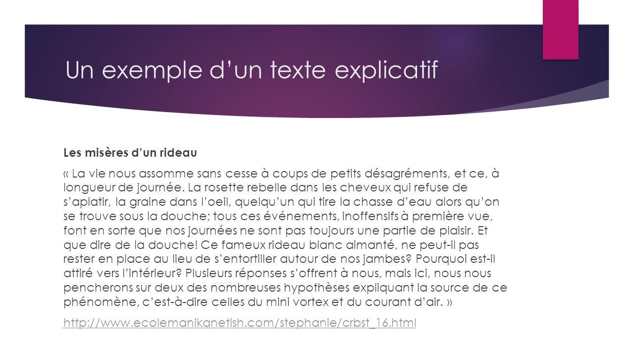 le texte explicatif fran ais ppt video online t l charger. Black Bedroom Furniture Sets. Home Design Ideas
