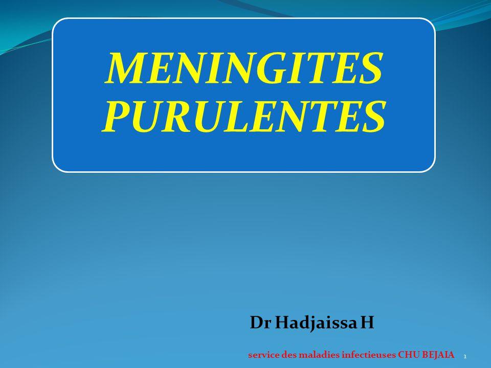 MENINGITES PURULENTES