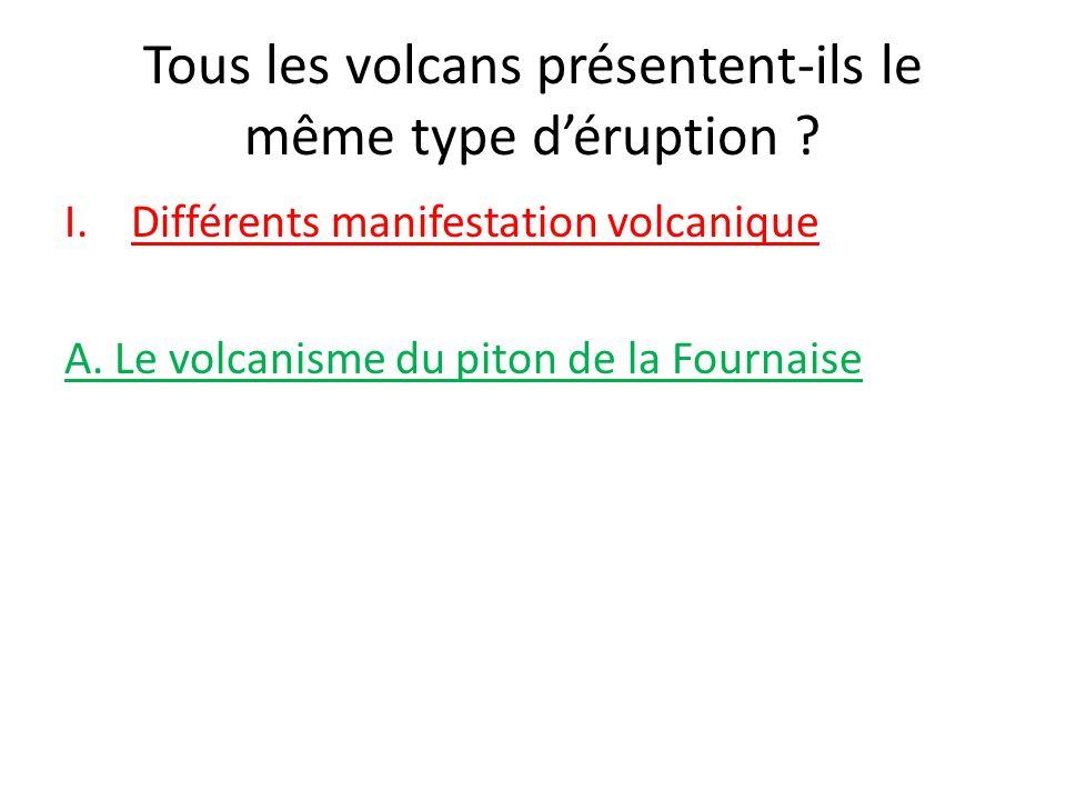Tous les volcans présentent-ils le même type d'éruption