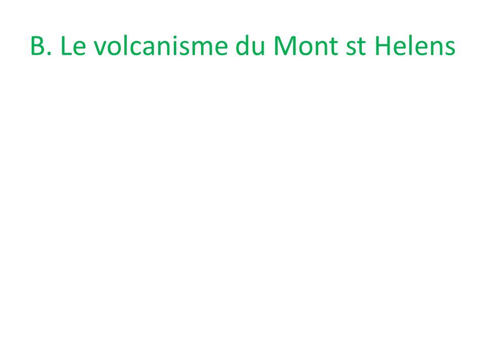 B. Le volcanisme du Mont st Helens