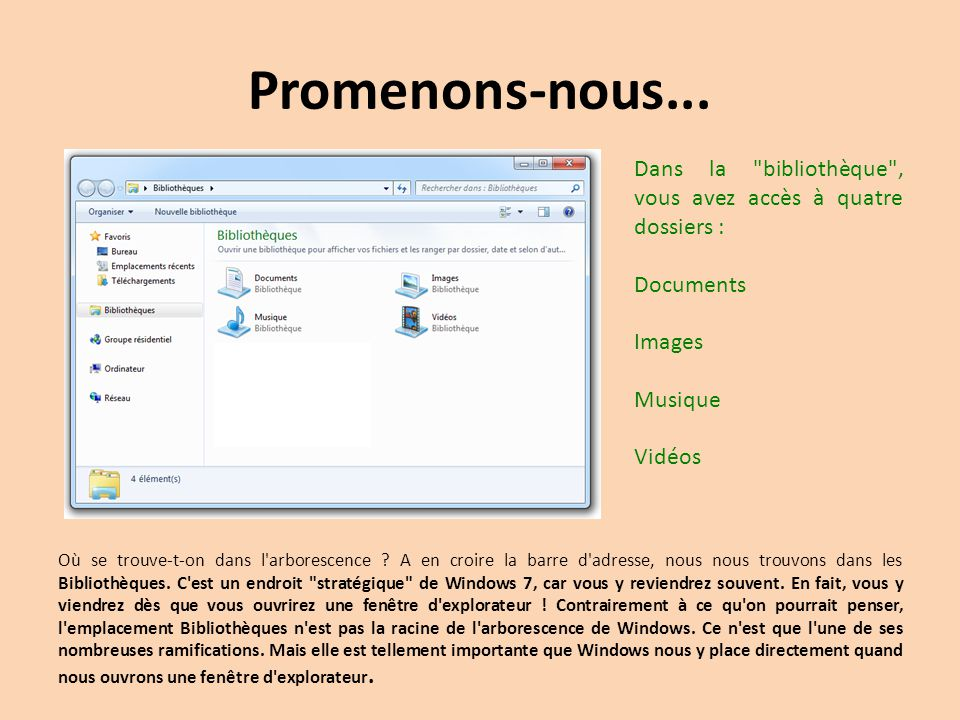 Windows 7 et son explorateur ppt t l charger for Fenetre explorateur windows 7