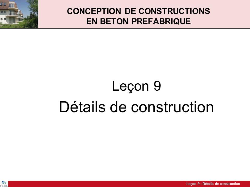 CONCEPTION DE CONSTRUCTIONS EN BETON PREFABRIQUE