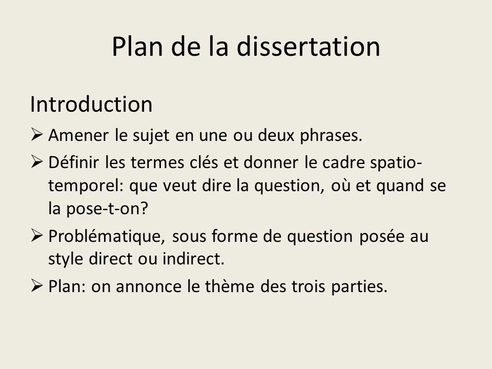plan de dissertation sur la famille