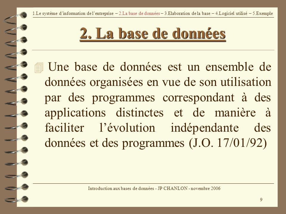 Introduction aux bases de donn es ppt t l charger - Exemple base de donnees open office ...