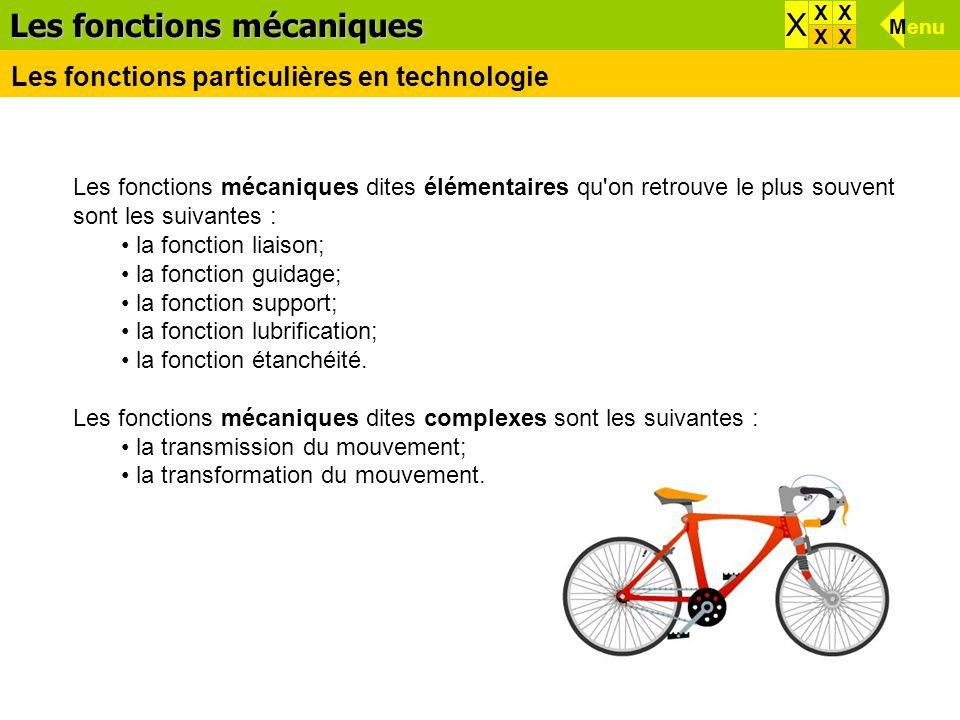 Les fonctions mécaniques X X
