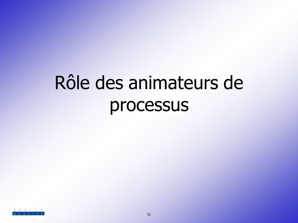 Rôle des animateurs de processus