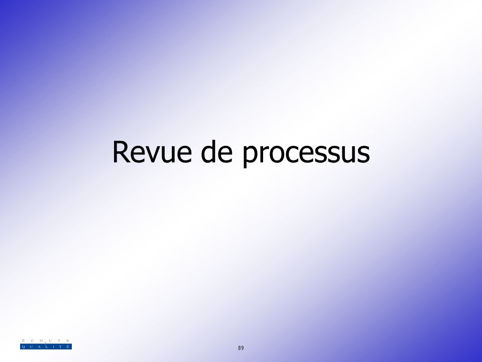 Revue de processus 89