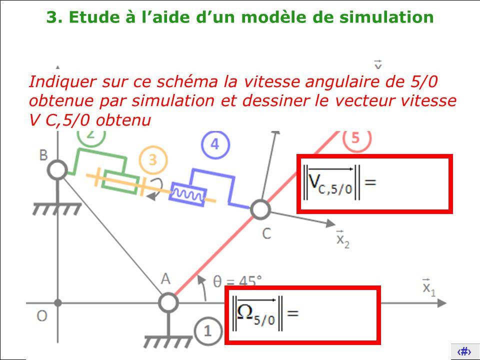 3. Etude à l'aide d'un modèle de simulation