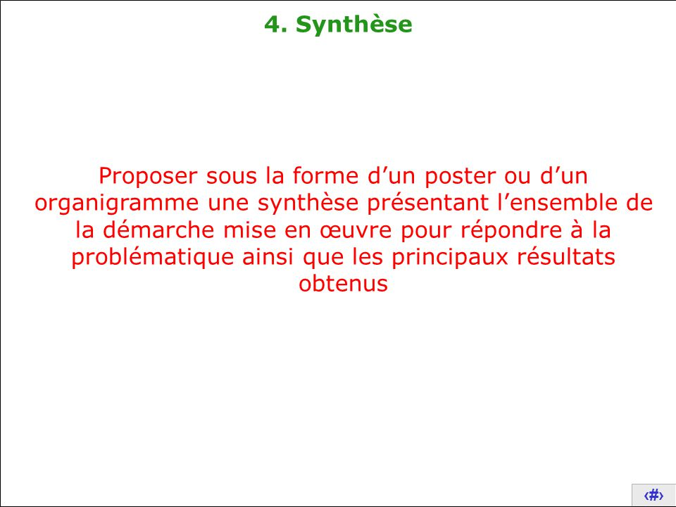 4. Synthèse