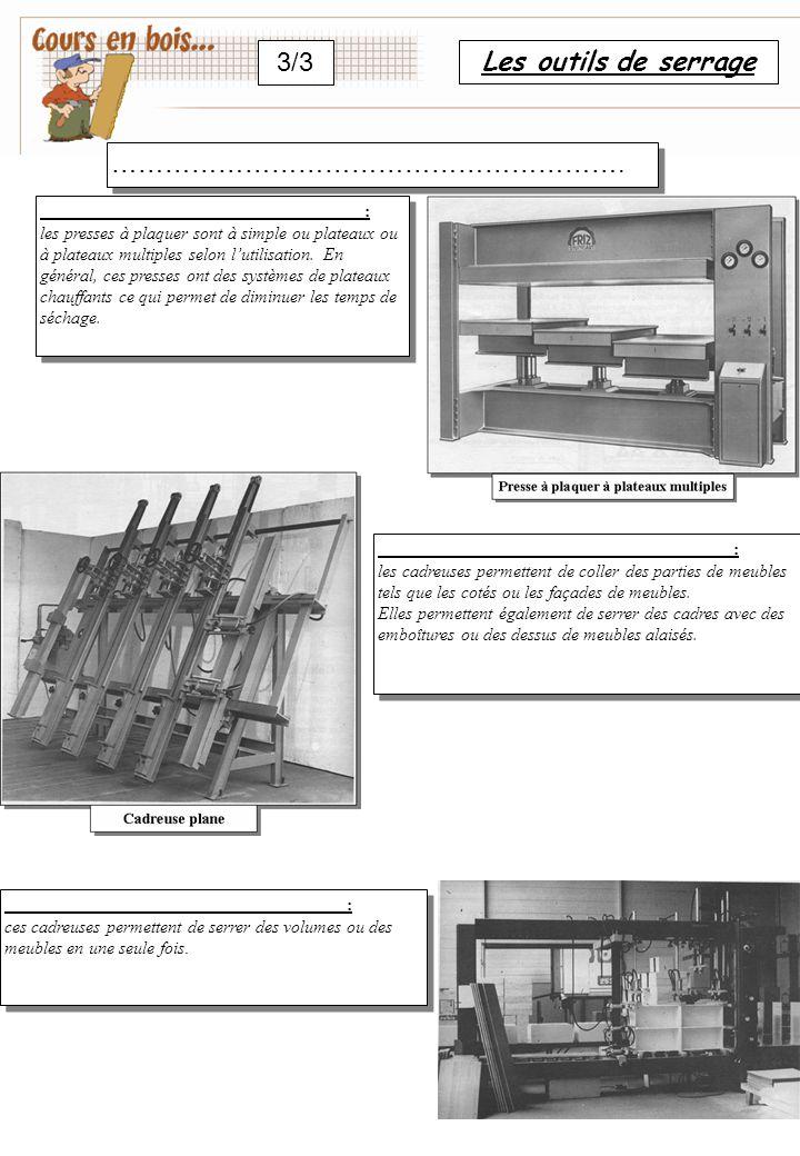 3/3 Les outils de serrage …………………………………………………. :