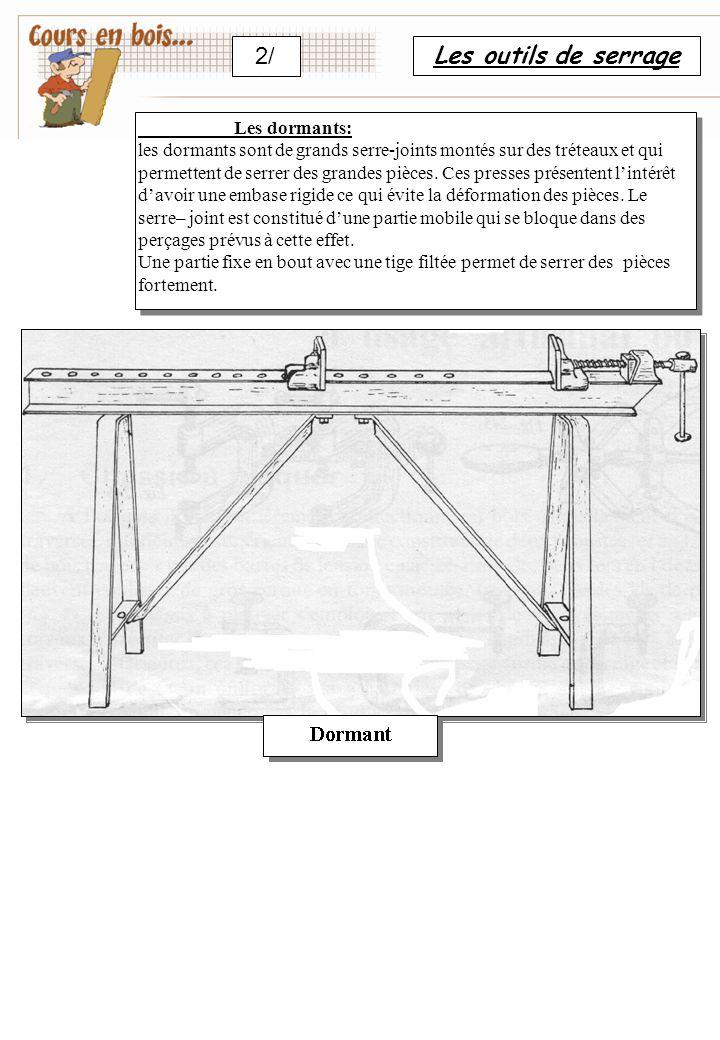 2/ Les outils de serrage Les dormants: