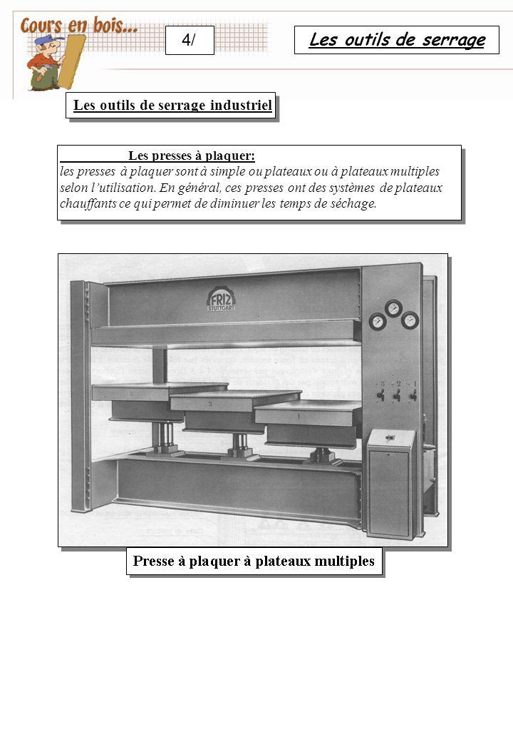 4/ Les outils de serrage Les outils de serrage industriel