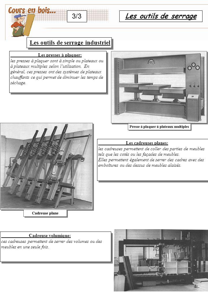 3/3 Les outils de serrage Les outils de serrage industriel