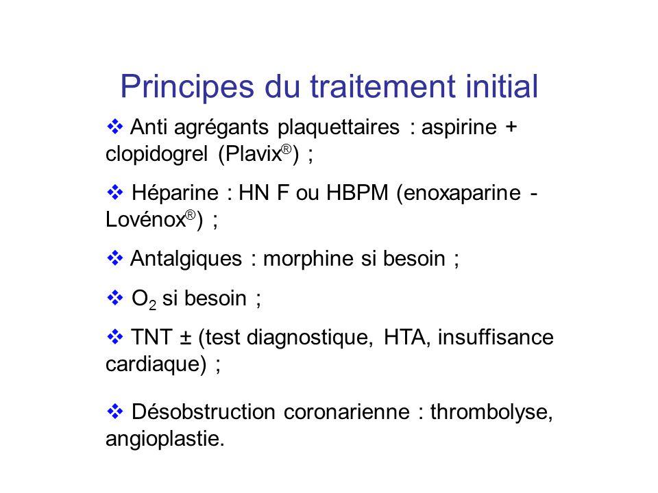 Principes du traitement initial
