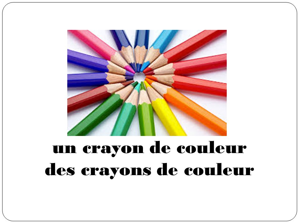 un crayon de couleur des crayons de couleur