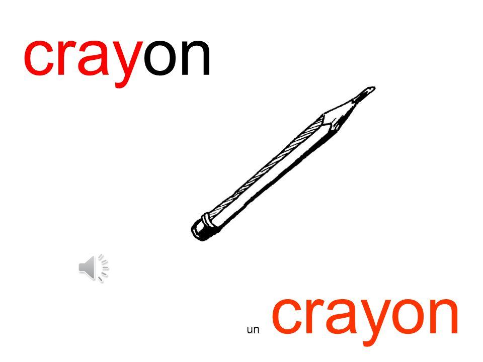 crayon un crayon