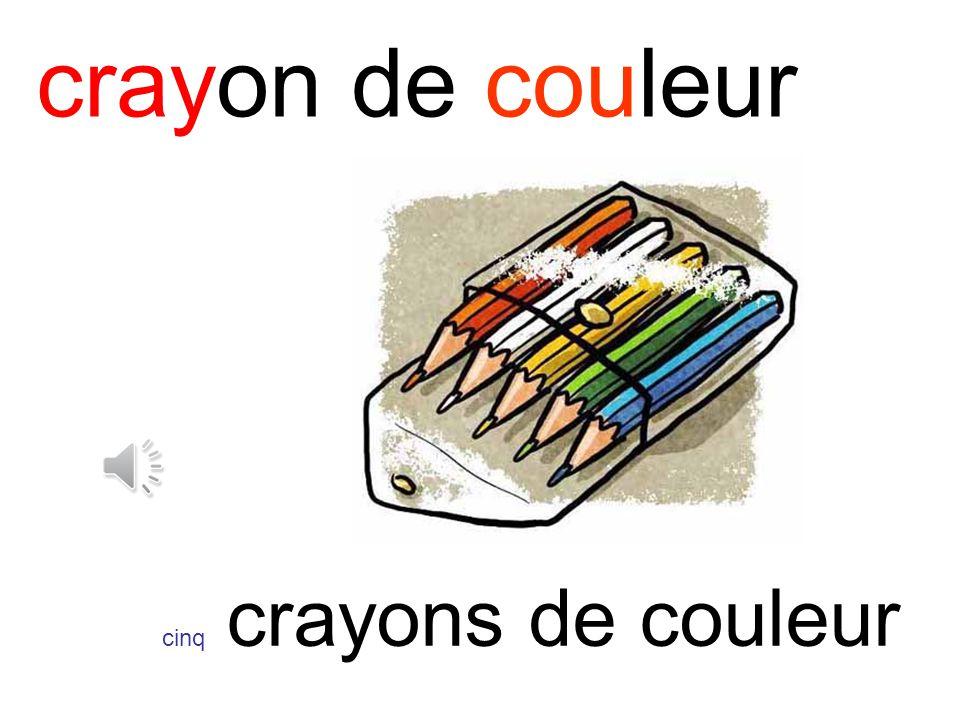 crayon de couleur cinq crayons de couleur