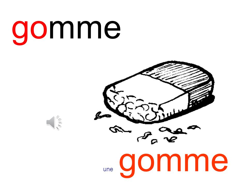 gomme une gomme