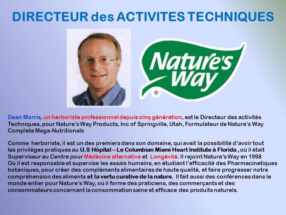 DIRECTEUR des ACTIVITES TECHNIQUES