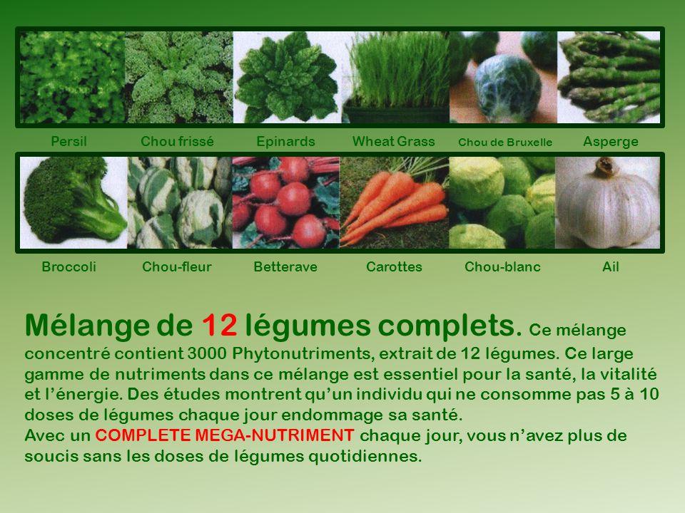 Mélange de 12 légumes complets. Ce mélange