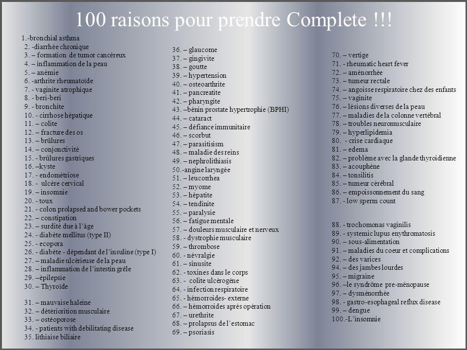 100 raisons pour prendre Complete !!!