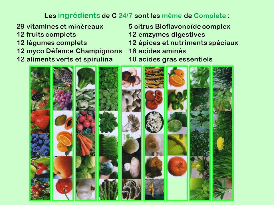 Les ingrédients de C 24/7 sont les même de Complete :