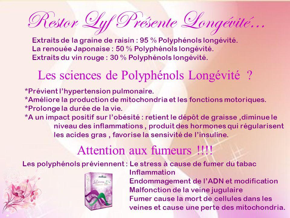 Restor Lyf Présente Longévité…