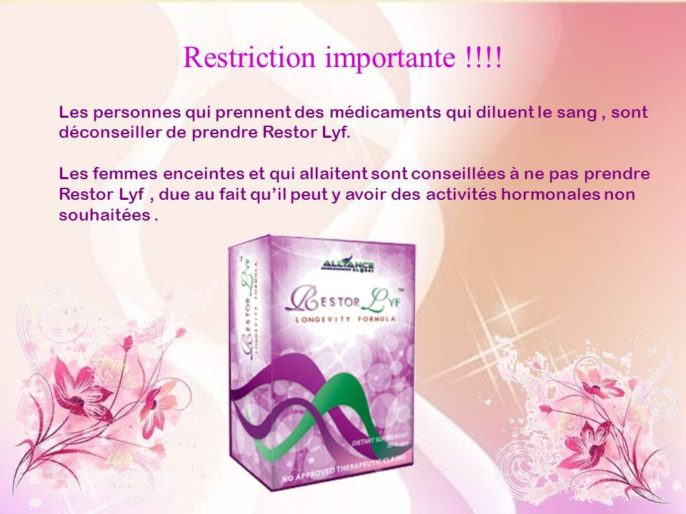 Restriction importante !!!!