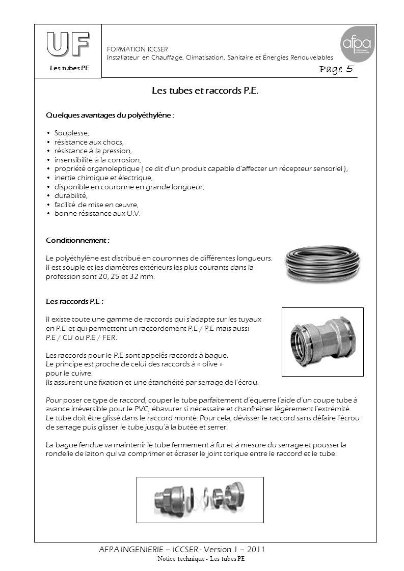 Les raccords à compression et accessoires P.E.