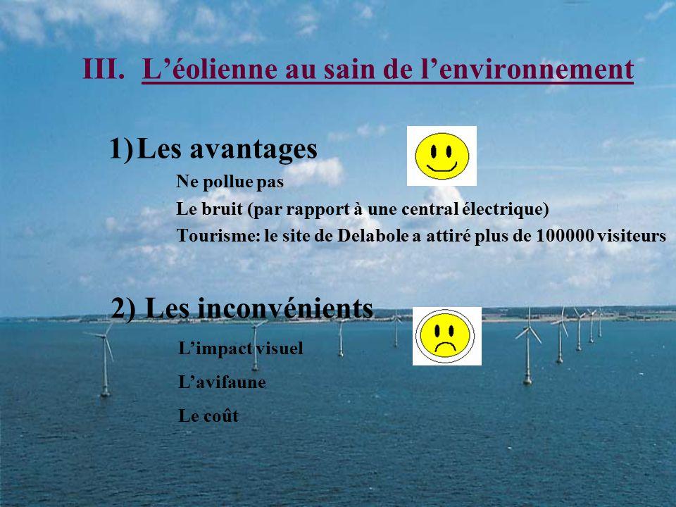 L'éolienne au sain de l'environnement