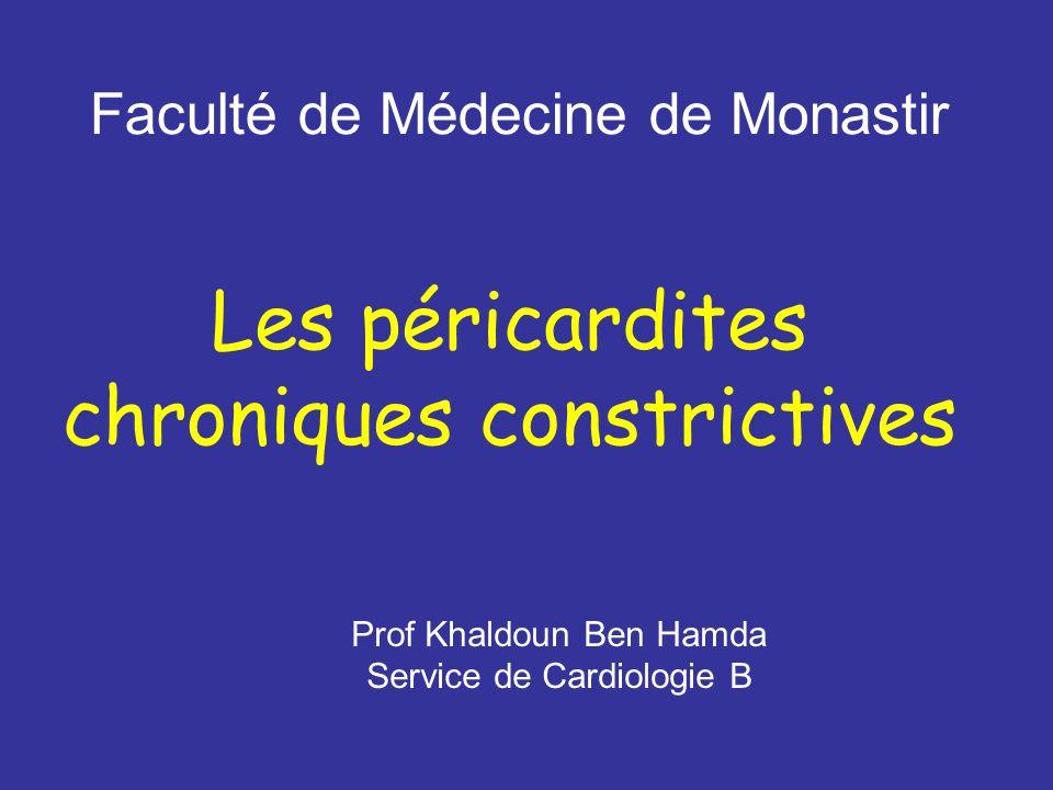 Les péricardites chroniques constrictives