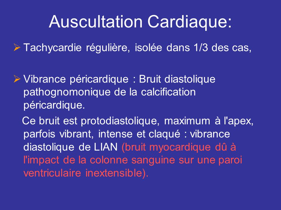 Auscultation Cardiaque:
