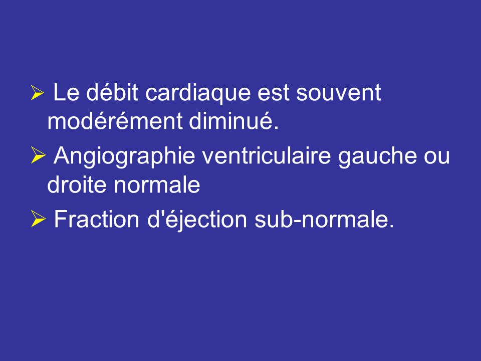 Angiographie ventriculaire gauche ou droite normale