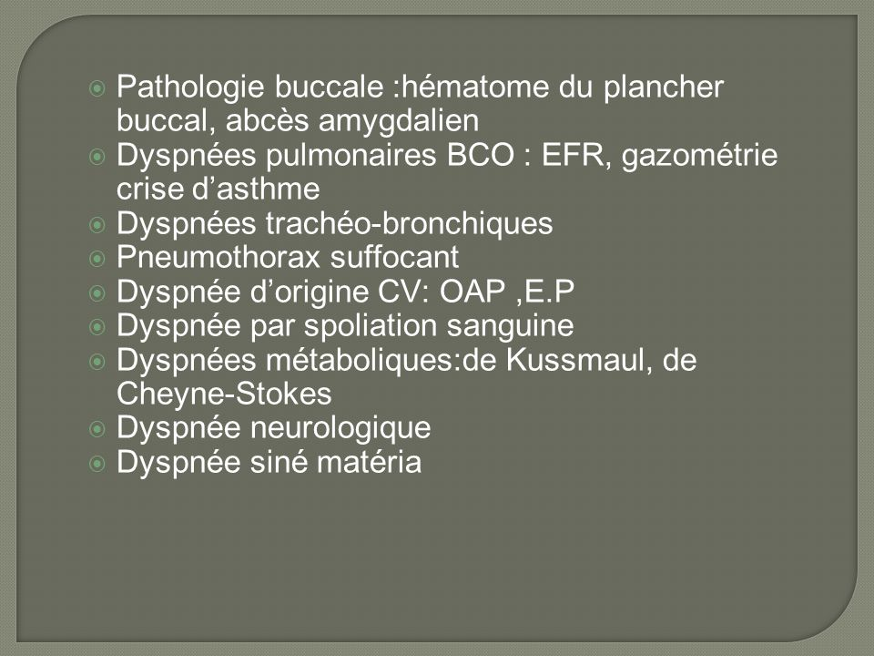 diagnostic d u2019une dyspn u00e9e laryng u00e9e