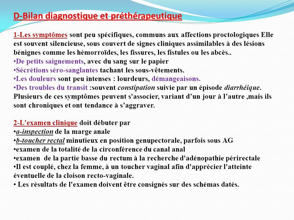 D-Bilan diagnostique et préthérapeutique