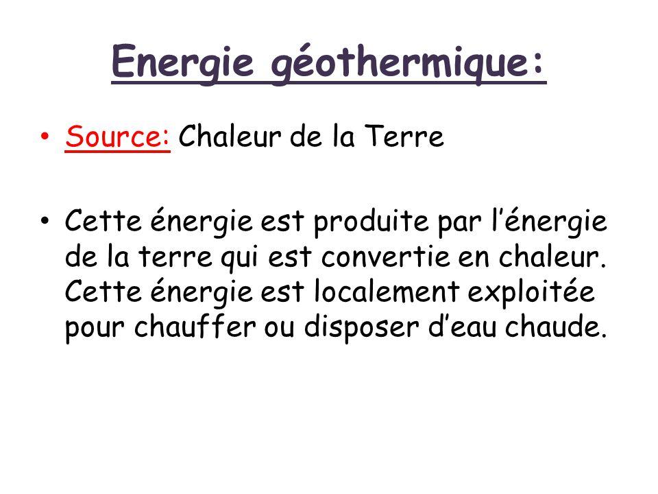 Energie géothermique: