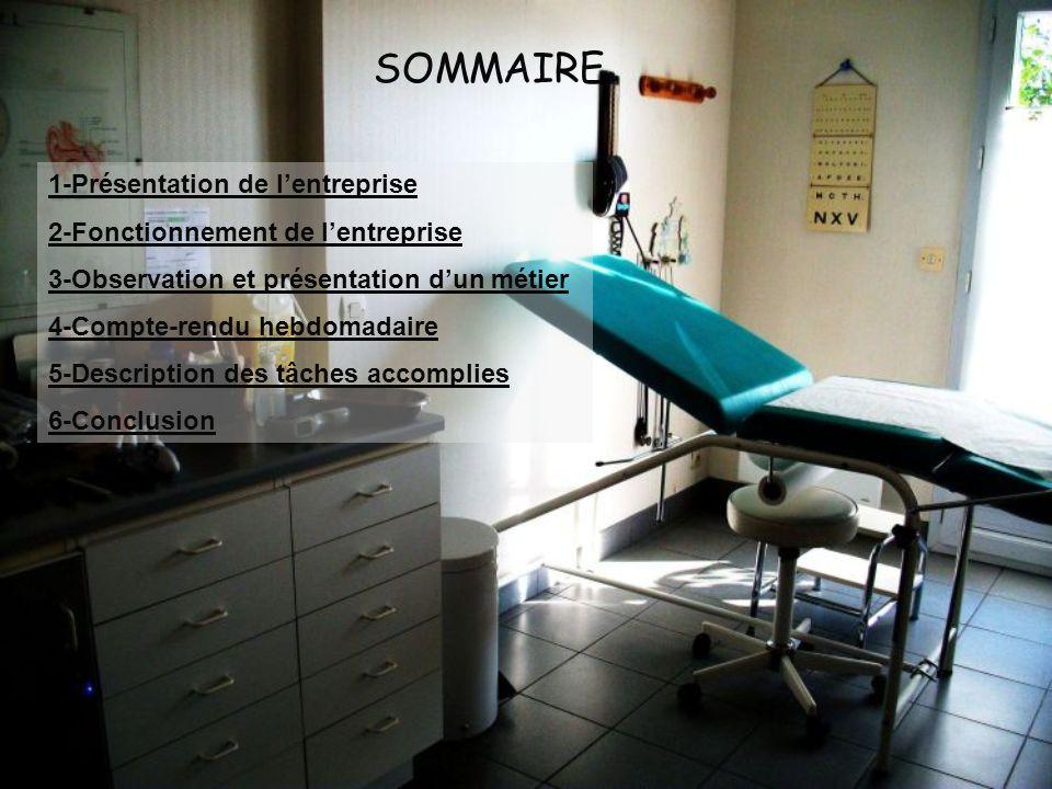 SOMMAIRE 1-Présentation de l'entreprise